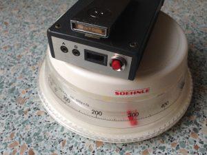 Ruim 300 gram inclusief batterij
